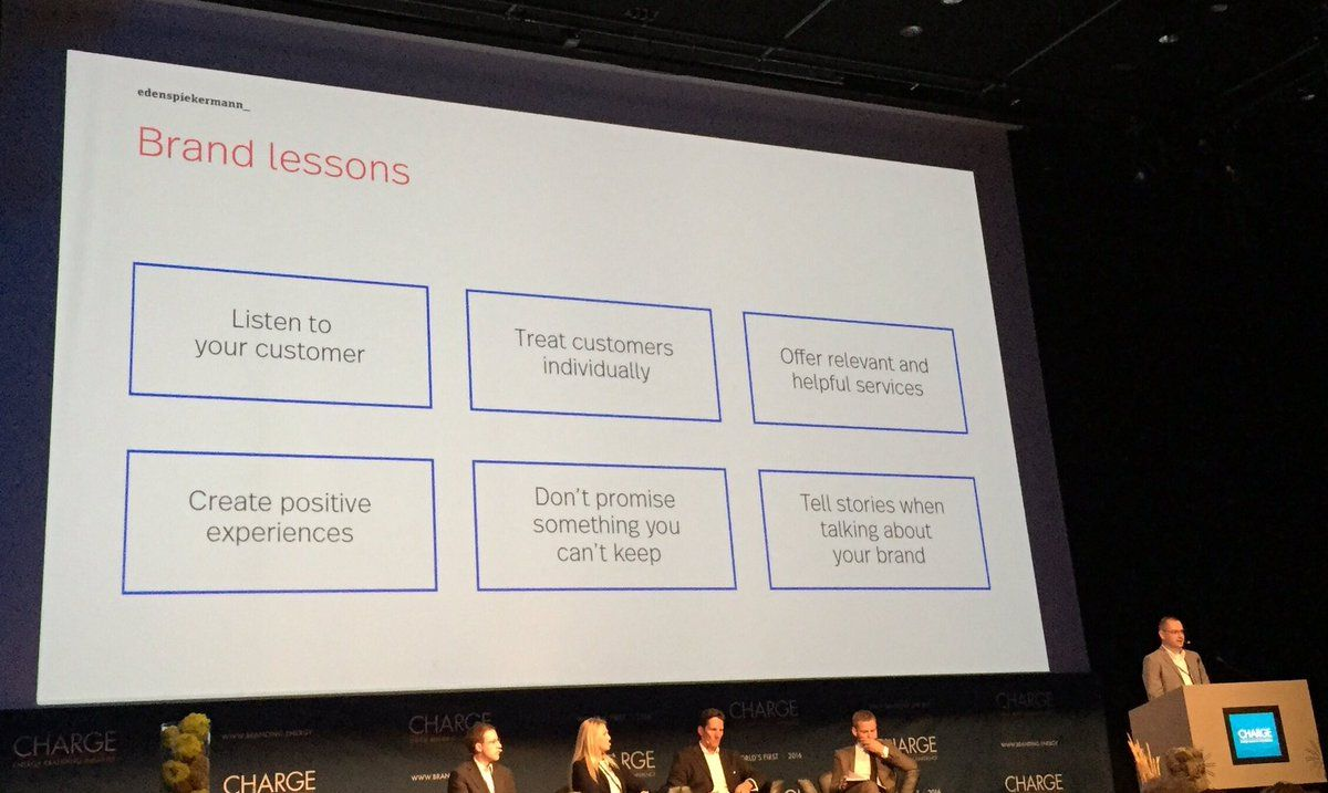 How to create value for the customers? Brand lessons from @OfficeStadler at #CHARGE2016