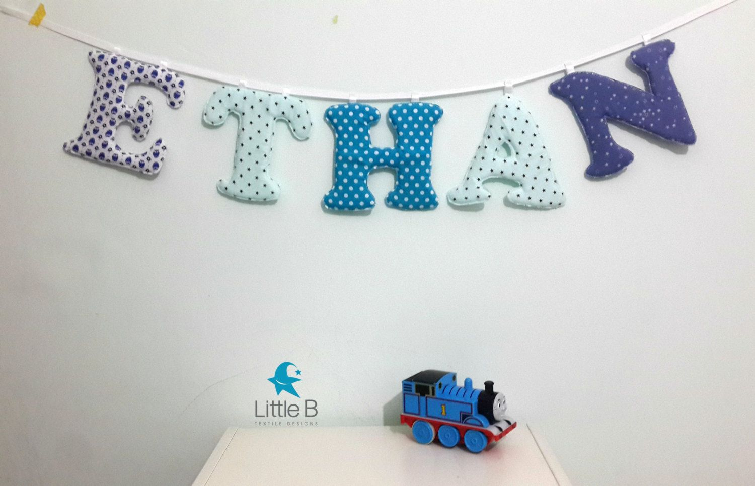 Ethan Name Banner Nursery Wall Letters Boy
