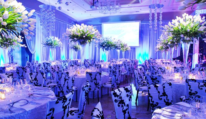 blue wedding decoration ideas. Wedding Reception Decorations  blue and orange wedding decorations Royal