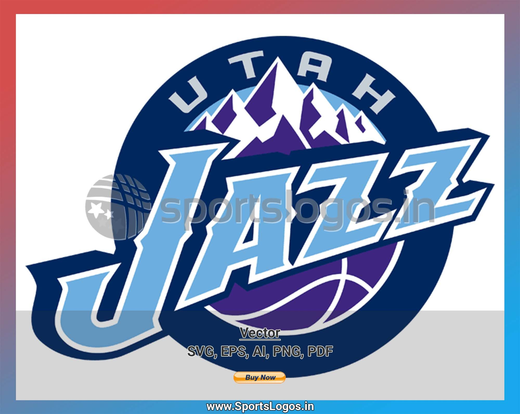 Utah Jazz Basketball Sports Vector Svg Logo In 5 Formats Spln004631 Sports Logos Embroidery Vector For Nfl Nba Nhl Mlb Milb And More Jazz Basketball Utah Jazz Utah Jazz Basketball