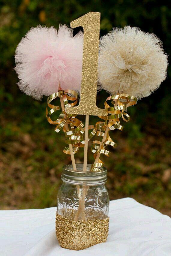 Princess Theme Center Piece Birthday Centerpieces First Birthdays Birthday Decorations