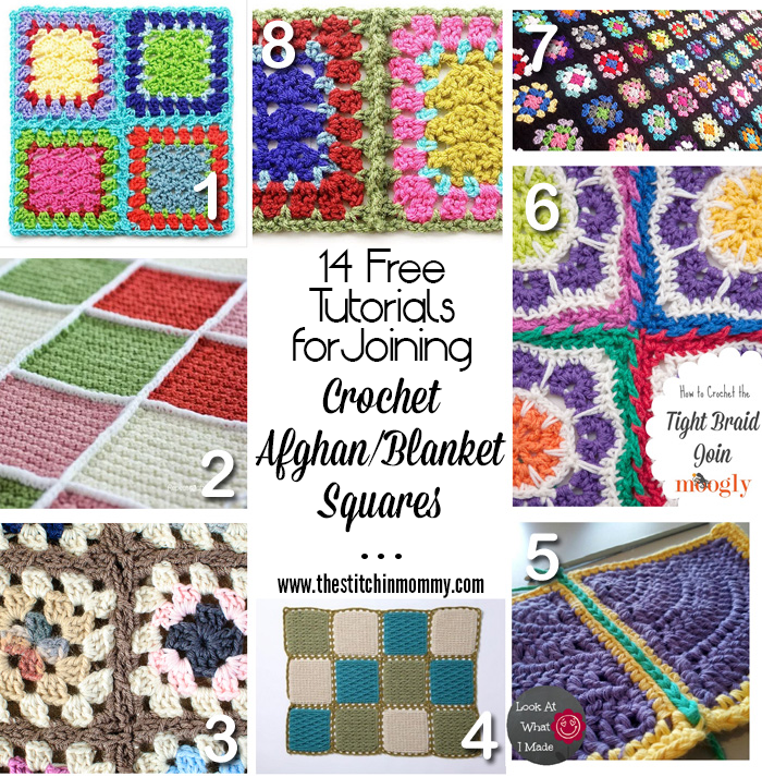 14 Free Tutorials for Joining Crochet Afghan/Blanket Squares ...