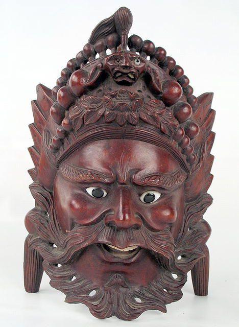 asian mask antique