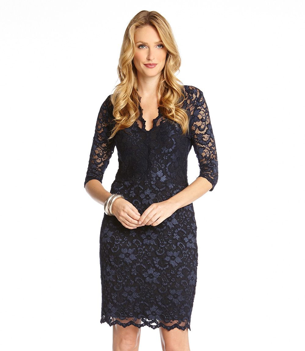 Product thumbnail wardrobe pinterest scalloped lace lace main image karen kane scalloped lace v neck dress regular petite ombrellifo Image collections