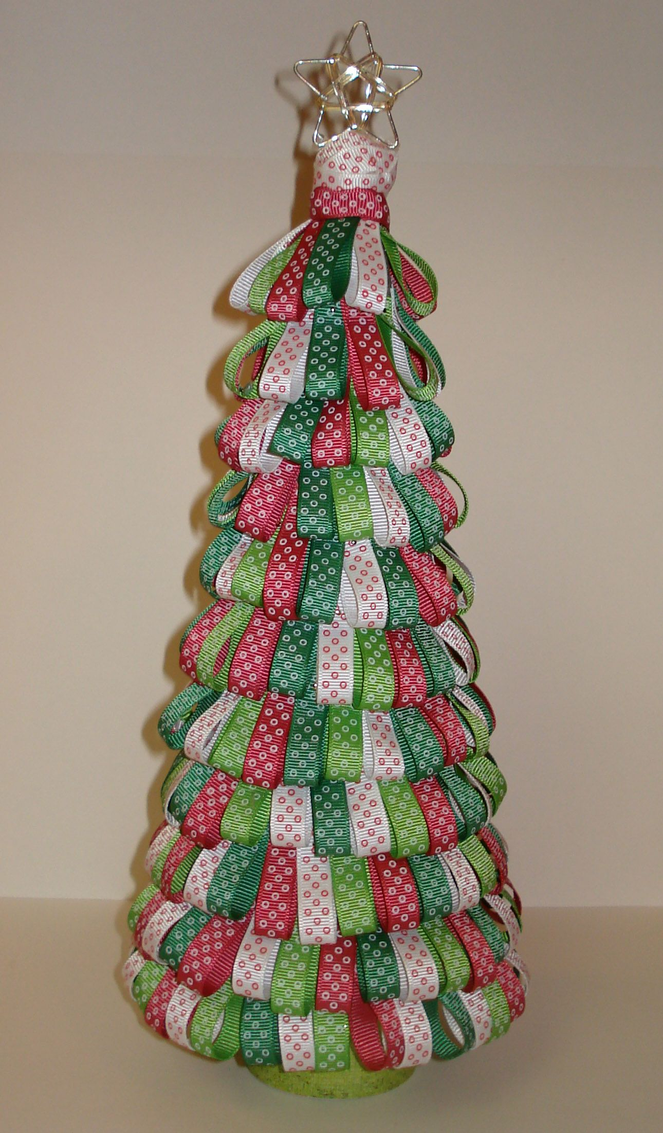 My Version Of The Ribbon Christmas Tree Christmas Ribbon Crafts Christmas Crafts For Gifts Christmas Ribbon