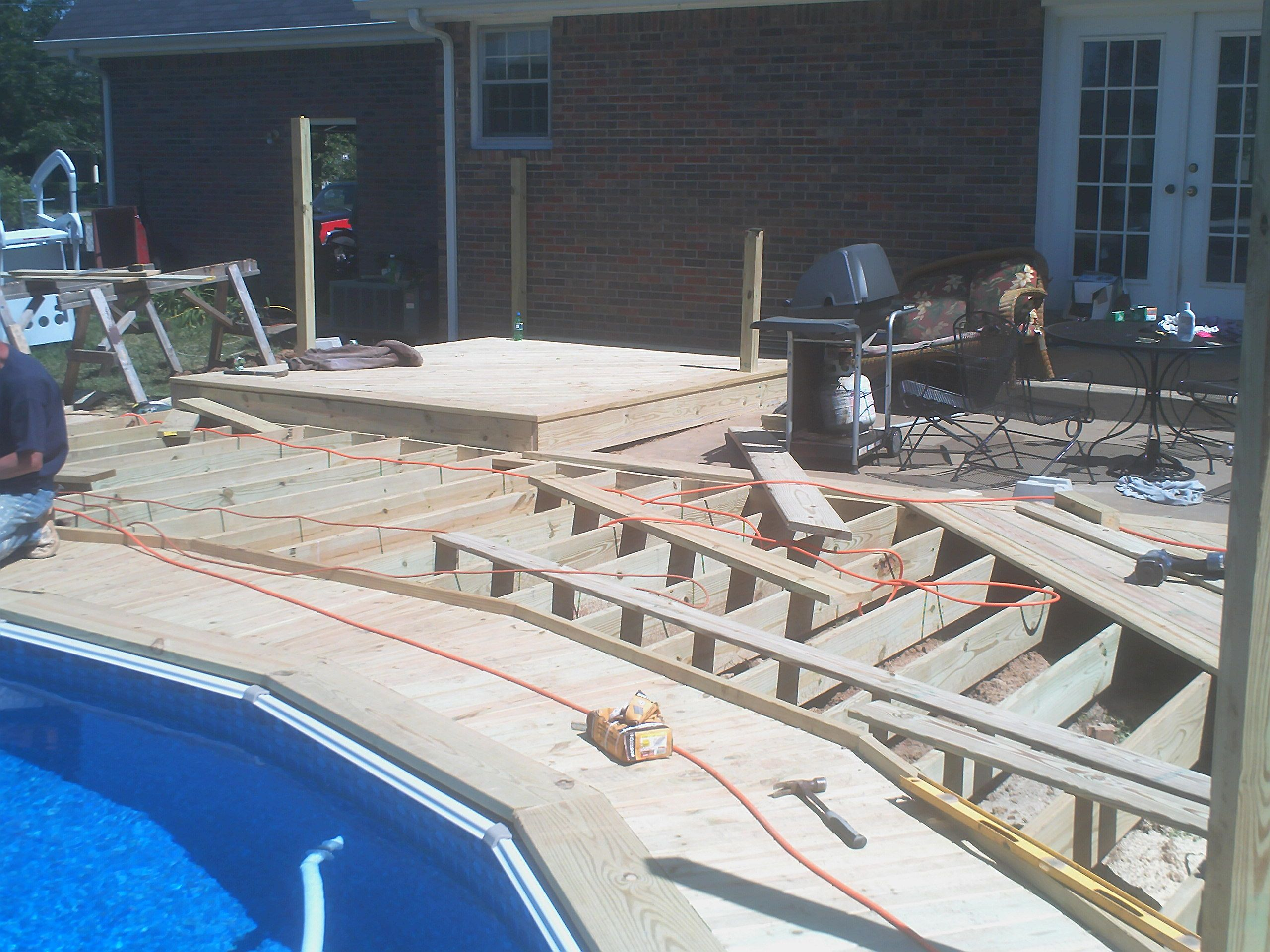 Above Ground Pool Pictures With Decks Above Ground Pool Deck
