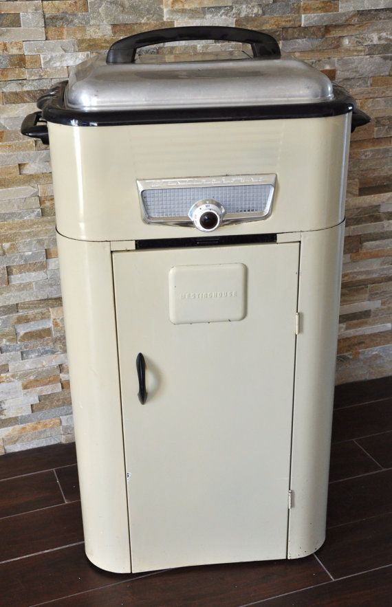 vintage westinghouse roaster oven with cabinet stand late 40s early rh pinterest com
