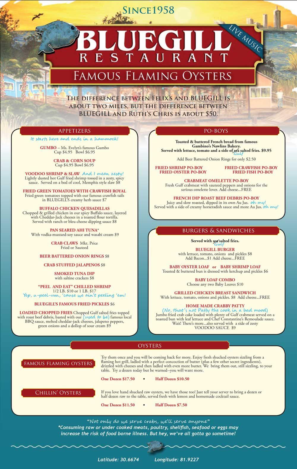 Bluegill Restaurant Mobile Al Restaurants In 2019