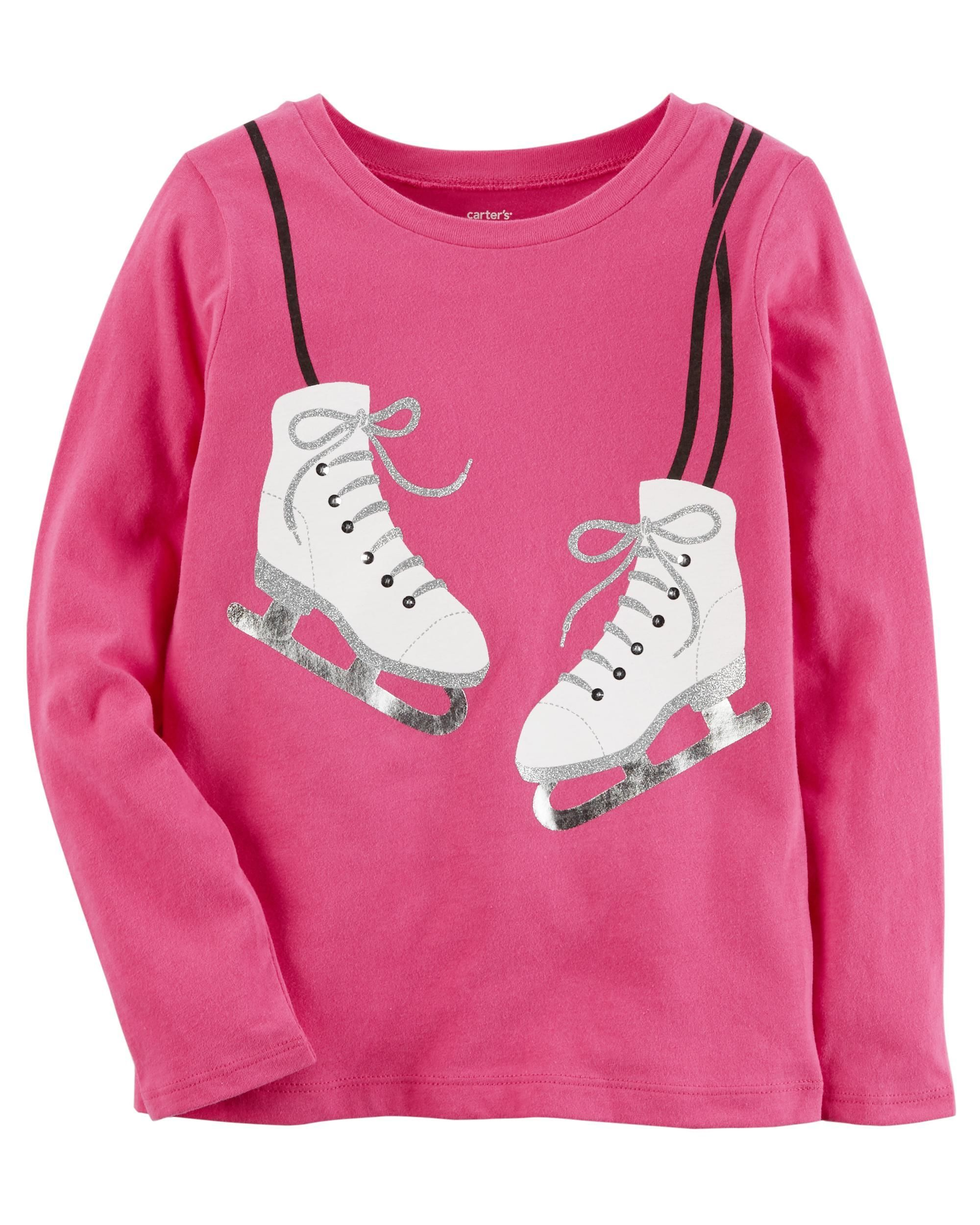 Ice Skate Tee Kids Girls Babies Clothes And Babies