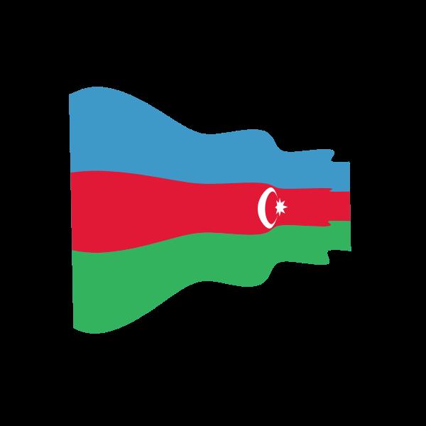 Waving Flag Of Azerbaijan Azerbaijan Flag Free Clip Art Flag
