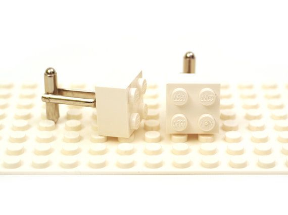 Cuff links Cufflink Wedding gift Cufflinks made with LEGO R bricks Red colour 2 x 2 brick cufflinks