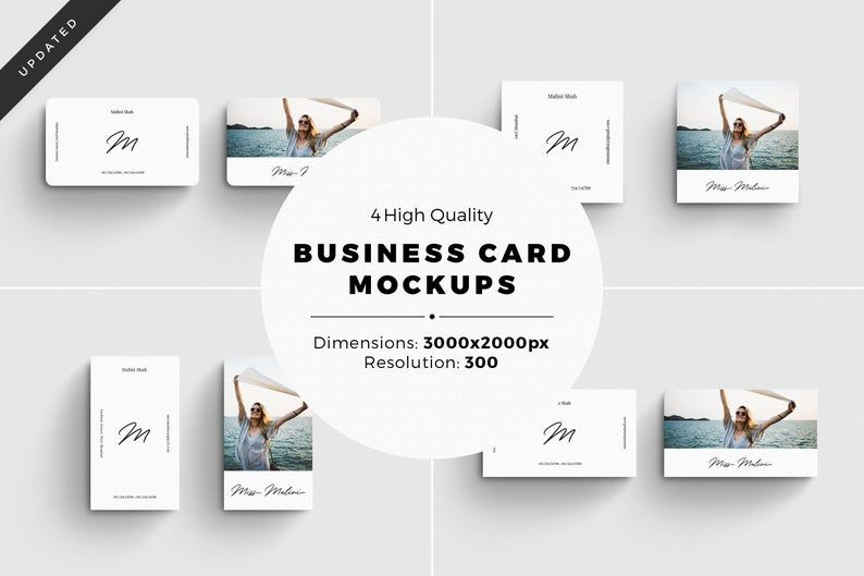 Mockup Bundle Business Card Design Digital Business Card Etsy Business Card Mock Up Business Cards Mockup Psd Mockup Free Psd