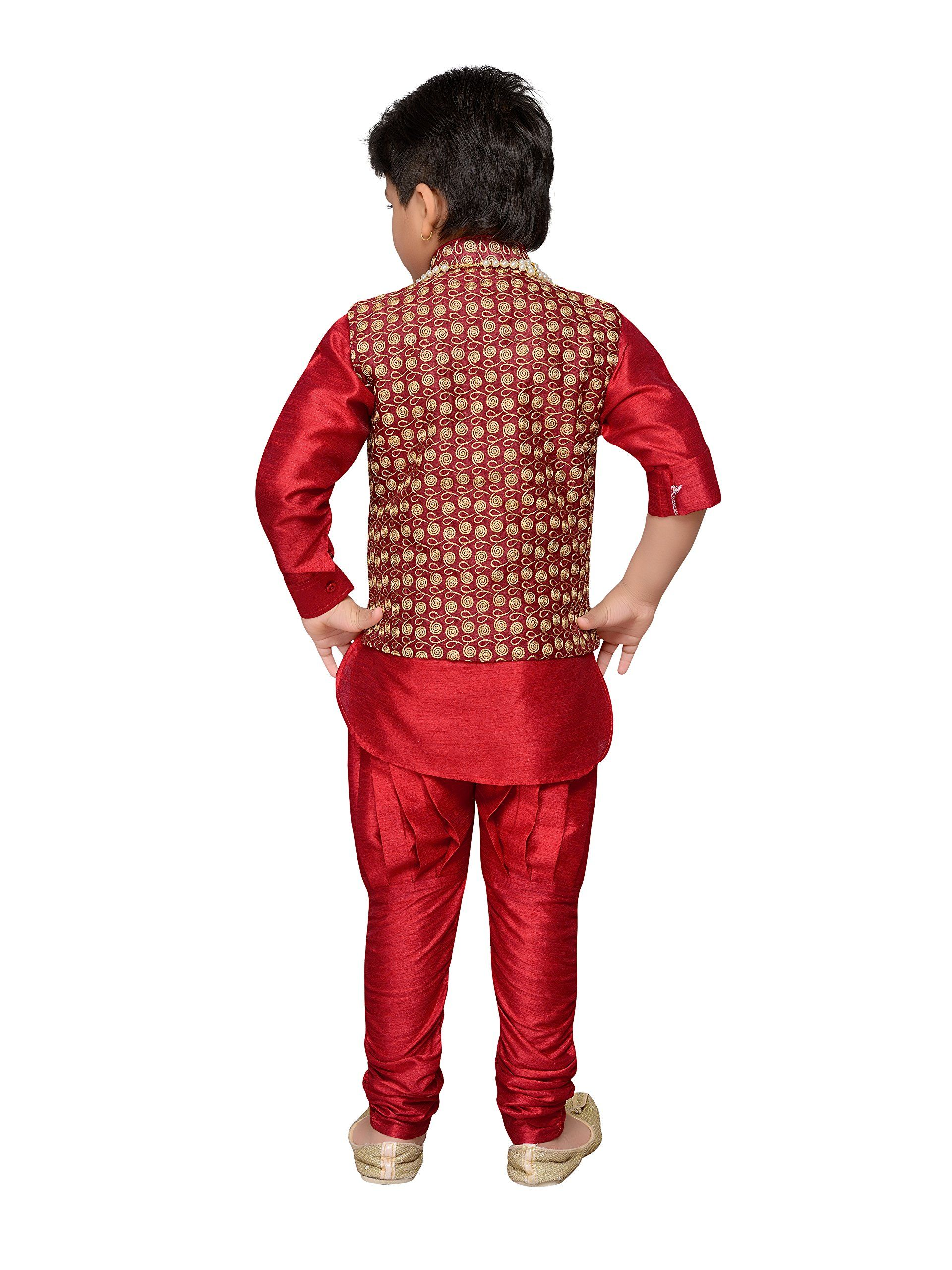 d7deec5ec6 AJ Dezines Kids Indian Wear Bollywood Style Kurta Pyjama Waistcoat with  Necklace for Baby Boys 850MAROON1 >>> Learn more by going to the photo web  link.