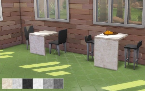 Veranka Marble Tables Sims 4 Downloads Marble Table Marble Bar Dining Table Marble