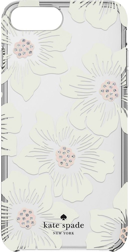 c92dd4053 kate spade new york - Protective Hardshell Case for Apple® iPhone® 7 Plus -  Cream with stones/Hollyhock floral clear - AlternateView1 Zoom