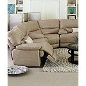 Peachy Zach Leather Power Reclining Sectional Living Room Furniture Bralicious Painted Fabric Chair Ideas Braliciousco