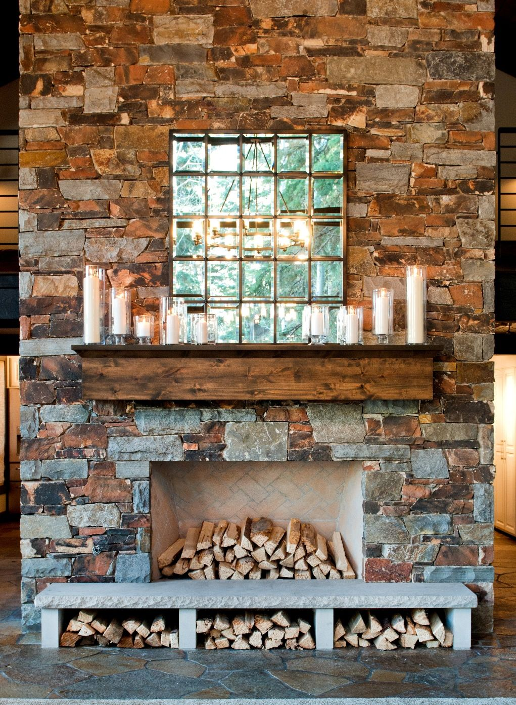 Fireplaces Artistic Stone Masonry In 2019 Fireplace Hearth