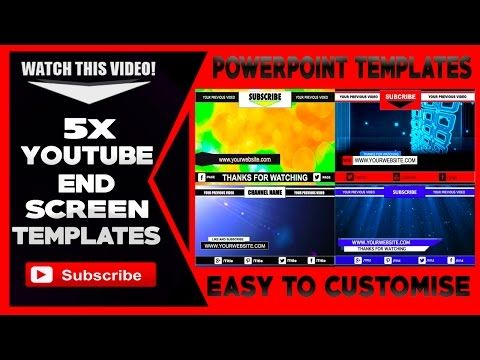 5 End Screens Cards Annotations Youtube Templates Dveye Video Video Template Youtube Screen Cards