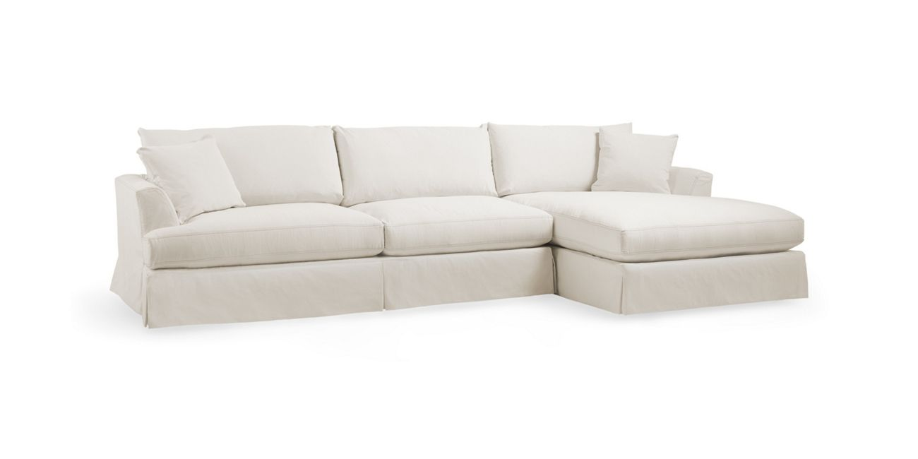 Emory Slipcovered Two Piece Sectional Arhaus Furniture With Images Arhaus Furniture Sectional Slipcovers