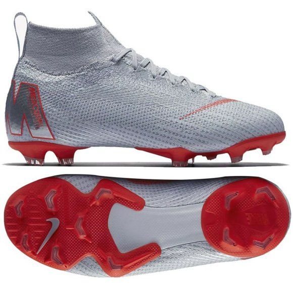 Buty Pilkarskie Nike Mercurial Superfly 6 Elite Fg Jr Ah7340 060 Szare Srebrny Kids Football Shoes Football Shoes Football Boots