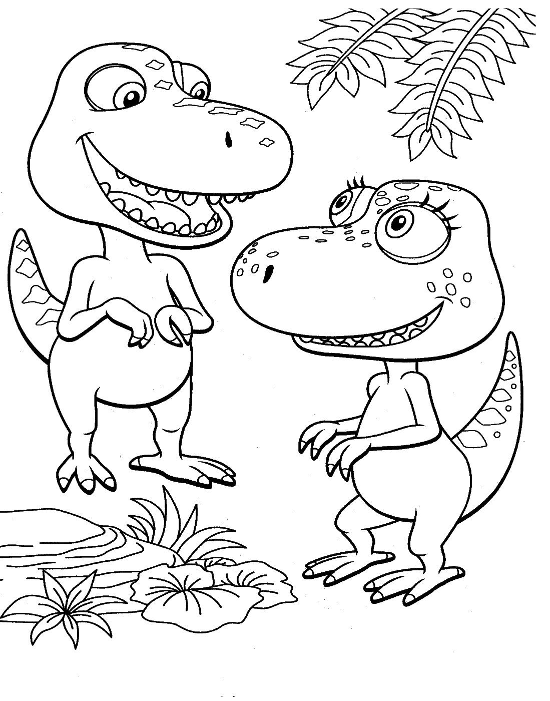 Dinosaur Train Coloring Pages | Dinosaurs Pictures and Facts … | art ...