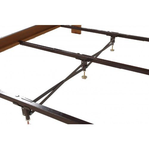 Steel Bed Frame Center Support 3 Rails 3 Adjustable Legs Gs3xs