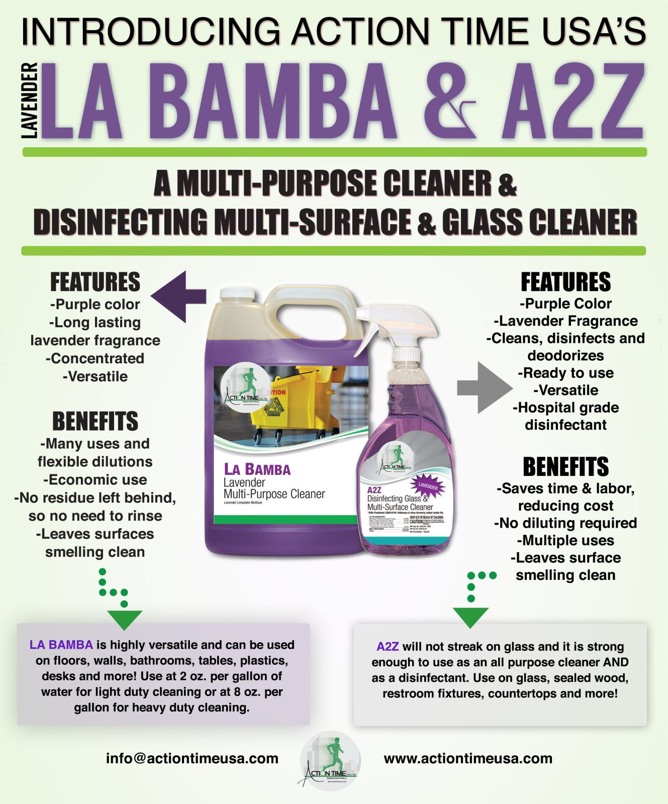 Cleaning with Lavender Scent Disinfecting Cleaner #MadeInTheUSA #Lavender