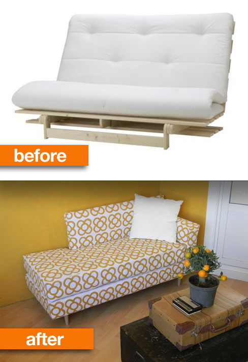 Or Turn A College Futon Into Modern Daybed 19 Furniture Makeovers That Prove Legs Can Change Everything