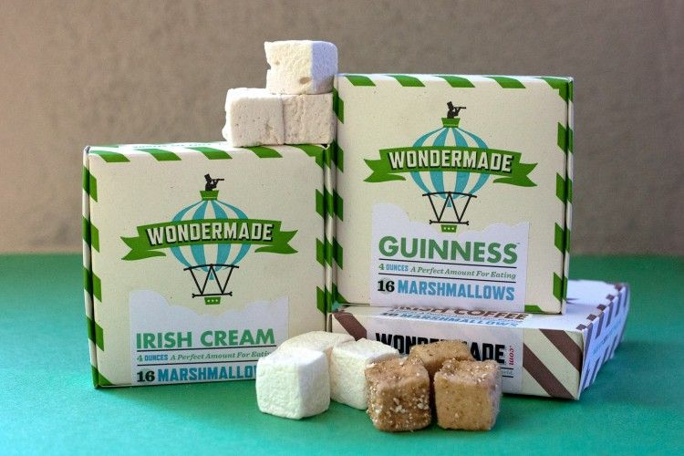 Wondermade's Guinness and Bailey's-flavored Marshmallows are the True Meaning of St. Patty's Day drink #yum #flavoredmarshmallows