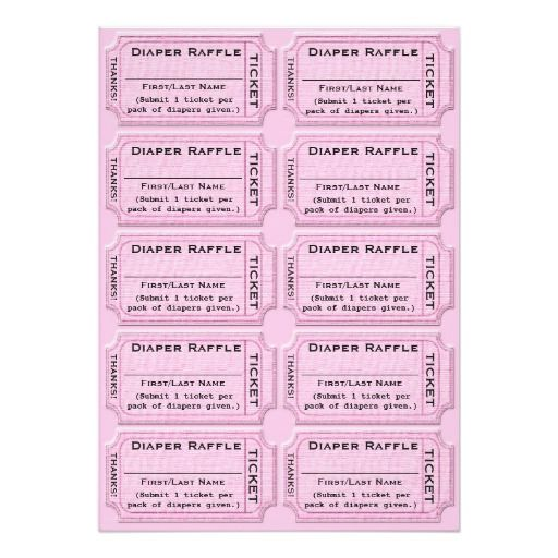 diaper raffle tickets cute baby shower card | babies, diaper, Baby shower invitations