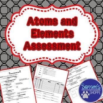 Atoms and Elements Assessment Periodic table, Multiple choice and - copy periodic table for atomic mass