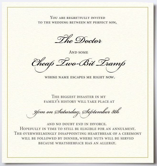 Funny wedding invitation Laughter is the best medicine Pinterest - fresh invitation wording reception