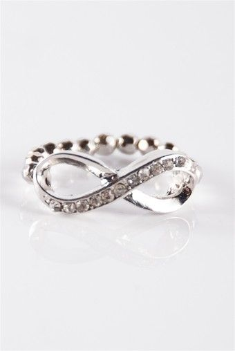 Forever After Infinity Ring - Silver from Jewelry & Accessories at Lucky 21 Lucky 21