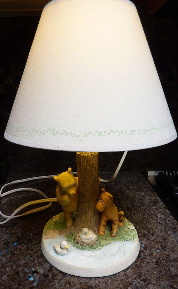 Image is loading Vintage-Winnie-The-Pooh-Bedside-Lamp-Works