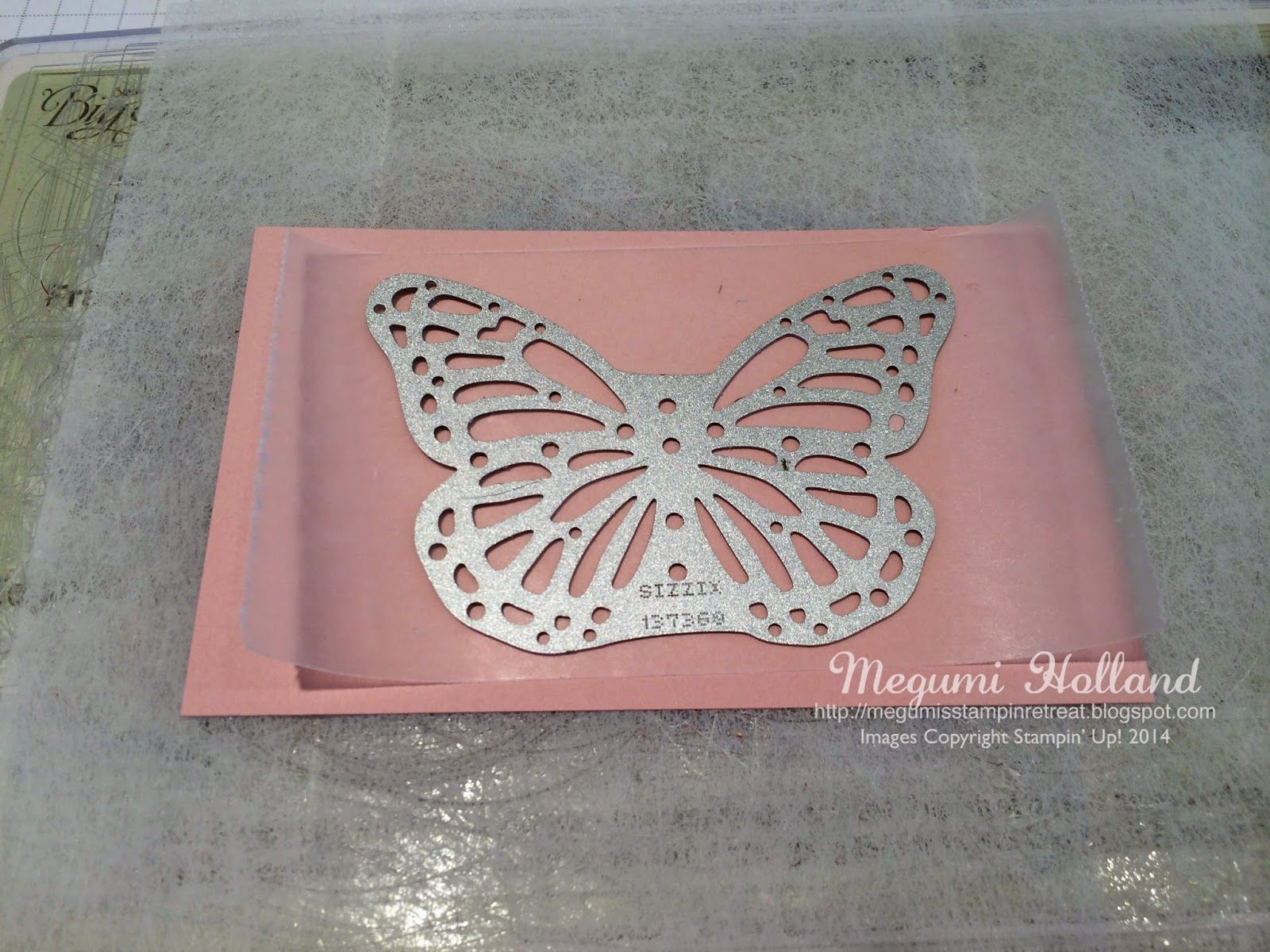Megumi's Stampin Retreat: Butterfly Basics Dryer Sheets Technique & Winner of January Free Stamp Set
