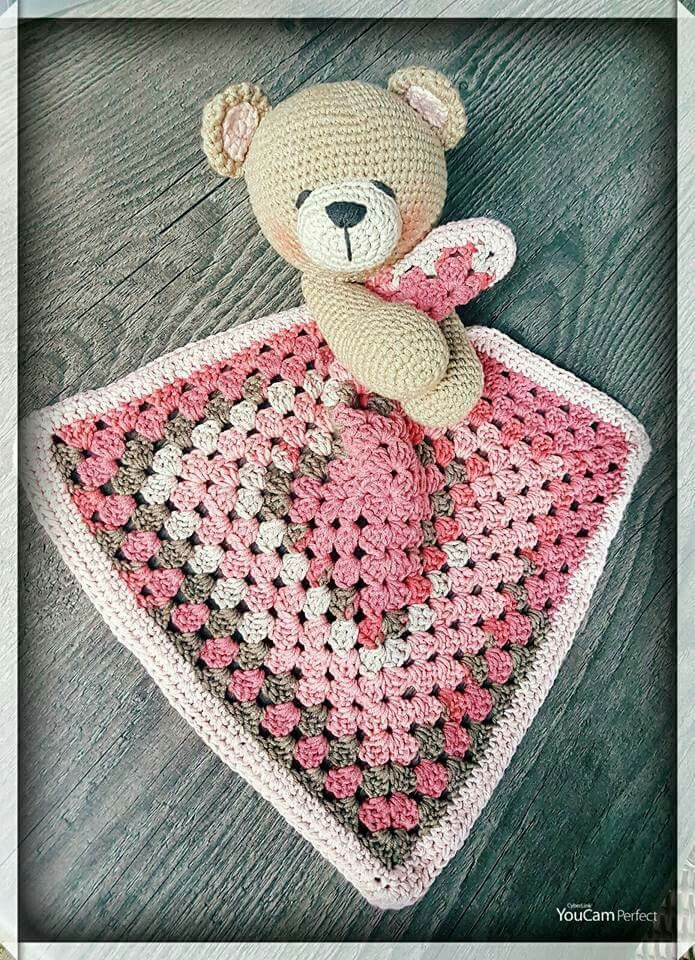 Cute Bear Lovey #securityblankets