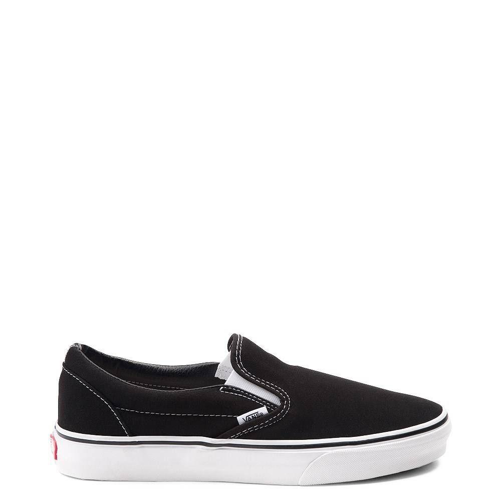 Vans Slip On Skate Shoe Black | Vans slip on black, Vans