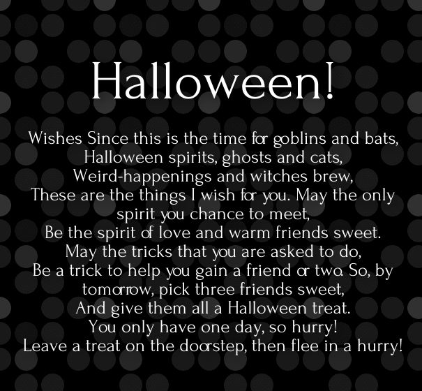 Superbe Halloween Poetry Images