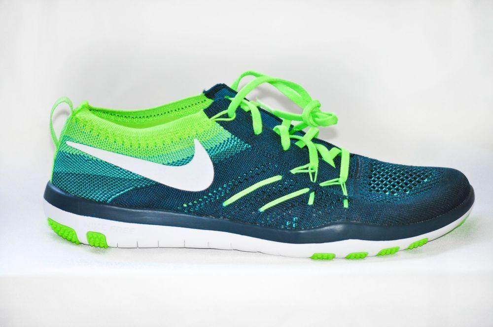 Nike Free TR Focus FlyKnit Running Shoe Turquoise Green