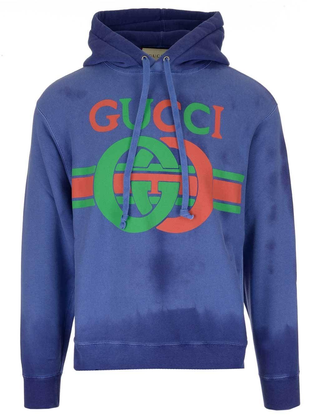 f8ab7b93fb2 GUCCI GUCCI WASHED LOGO PRINT HOODIE.  gucci  cloth