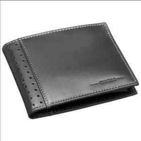 New Guess Men s Black Leather Wallet New Guess Passcase Men Wallet Color   Black Size  4.1