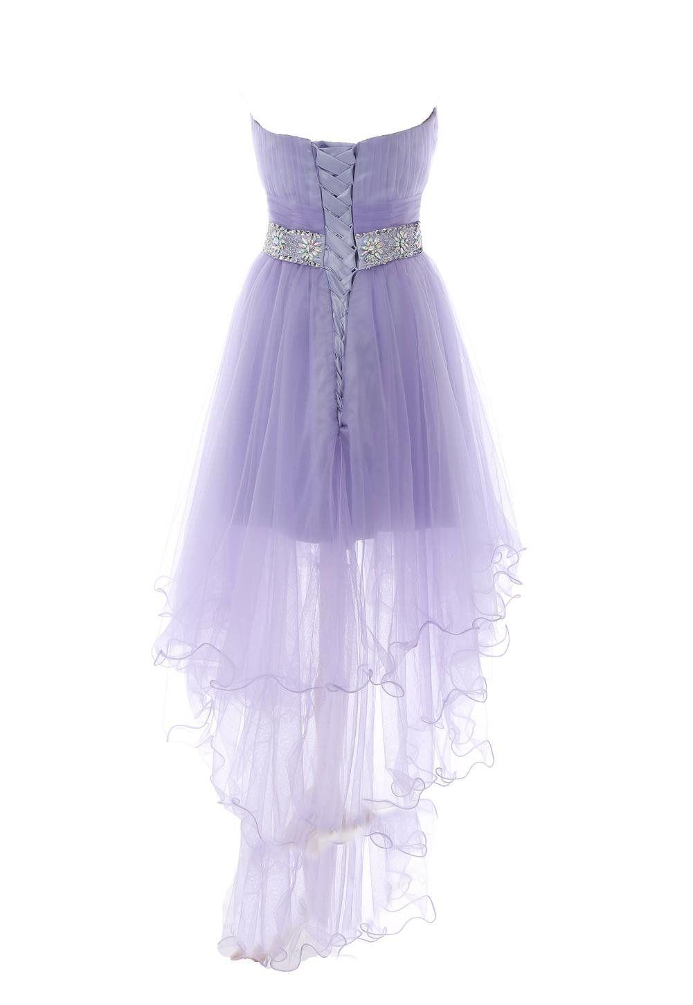 Amazoncom Yiyadawn Womens High Low Homecoming Dress Short Evening