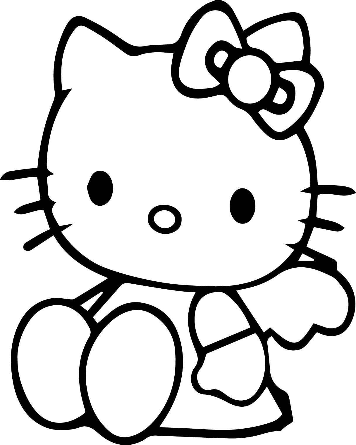 Nice Sitdown Hello Kitty Coloring Page Hello Kitty Colouring Pages Hello Kitty Coloring Kitty Coloring