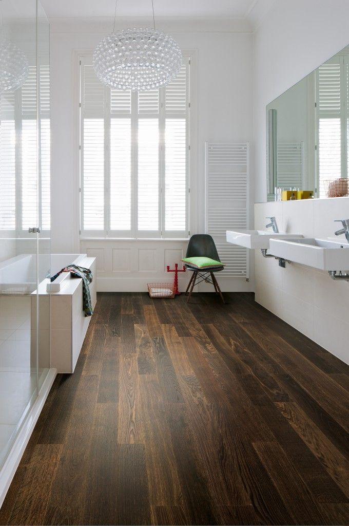 Moderner Holzboden #Antik #Boden #Bad #Wood #floor   wwwschaff - parkett für badezimmer