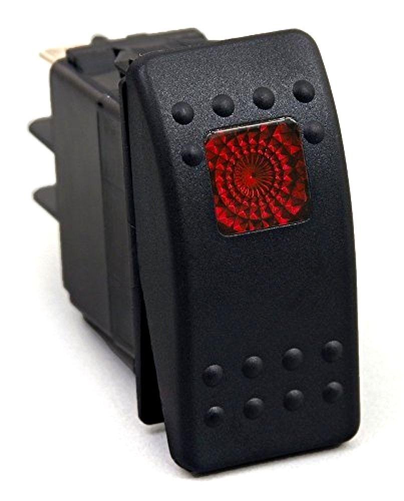 Red Light Rocker 20 Amp Switch Kit Dash 3pin 12V [SR1001BLPFBA ...