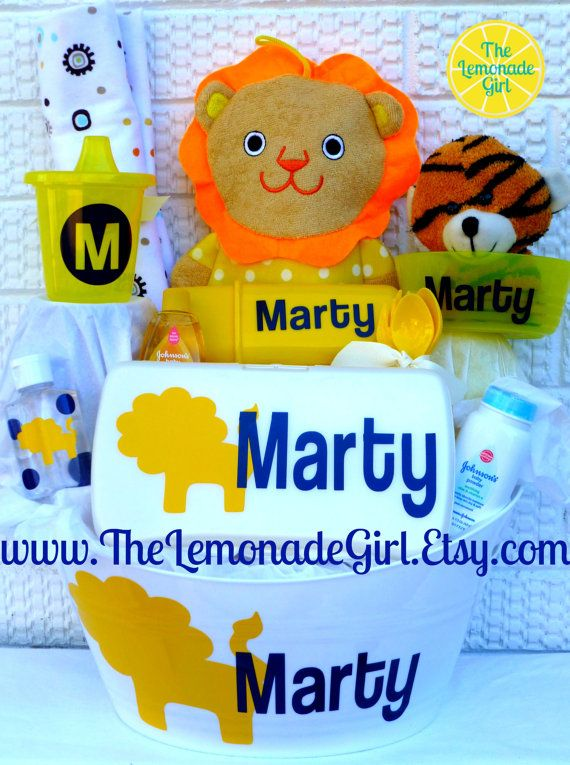Personalized boy girl baby shower gift basket gift set alligator personalized boy girl baby shower gift basket gift set alligator lion new negle Images