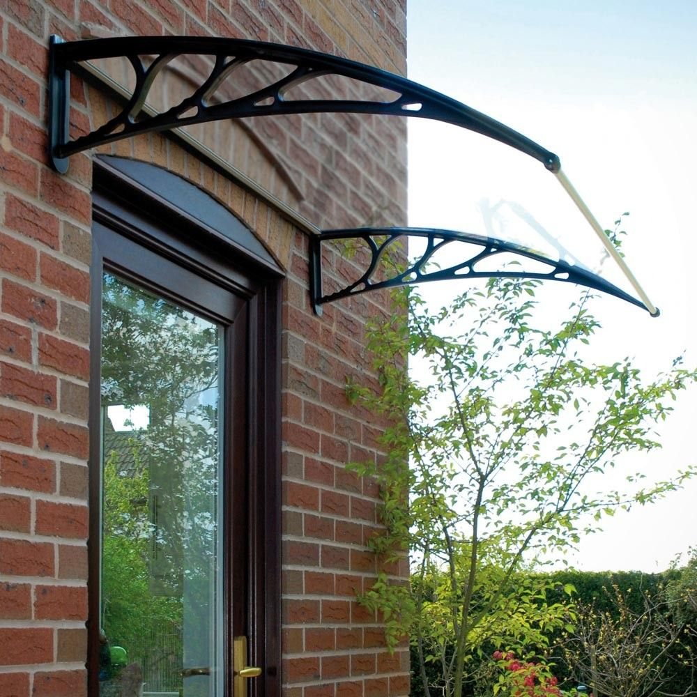 Wall Mounted Outside Garden Door Canopy Black For The Home