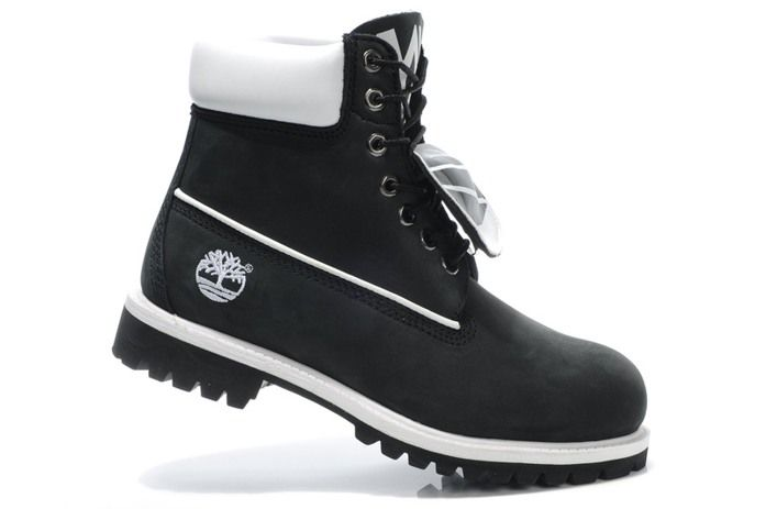Black Tims with white accent | Boots