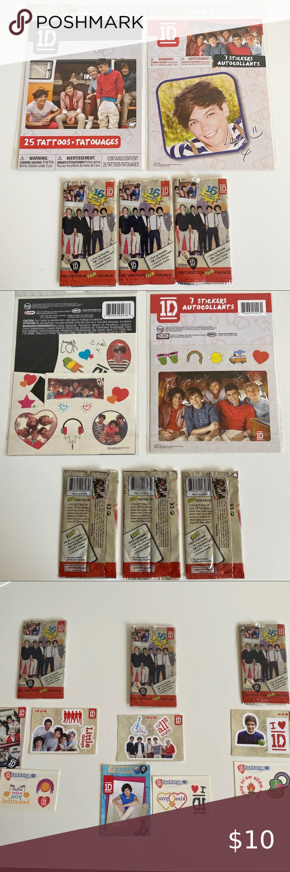 One Direction Tattoos And Stickers In 2020 One Direction Tattoos Collectible Cards Stickers