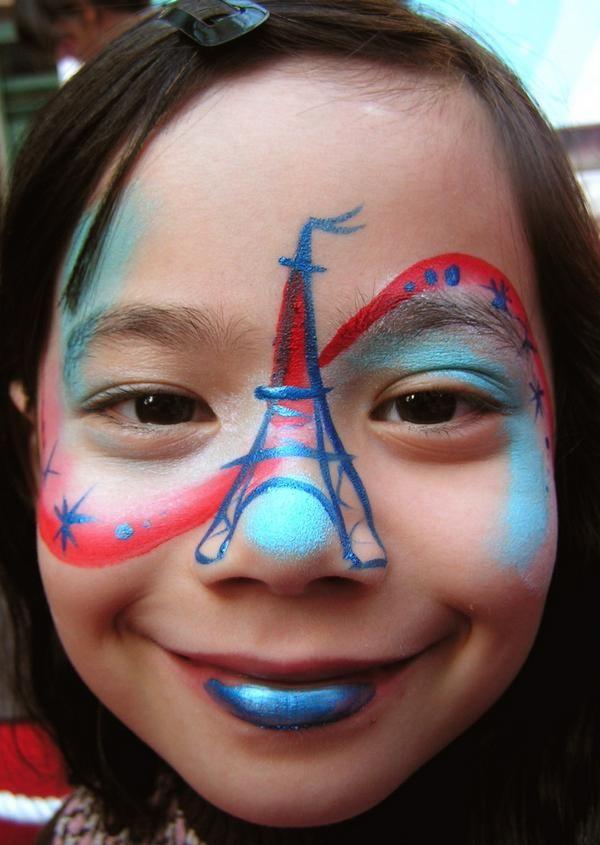 44bf8b192 facepaint inspiration for #BastilleDay #14Juillet | Paris Party ...